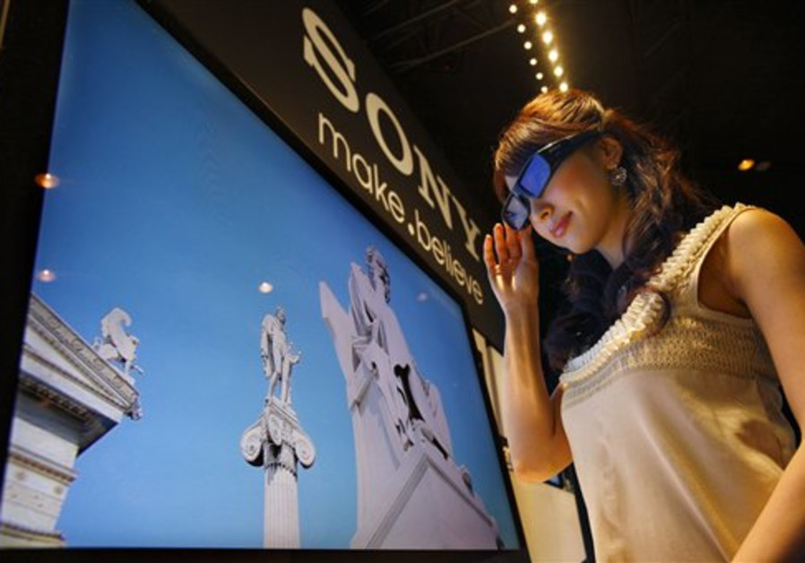 Sony's 3-D television is introduced as a model wat