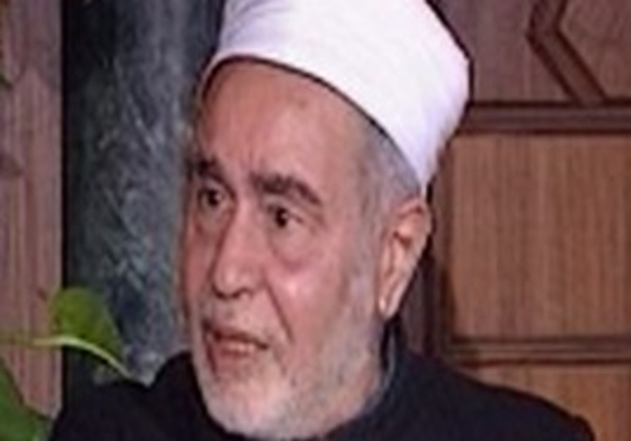 Top Egyptian cleric Sheikh Mohammed Sayed Tantawi.