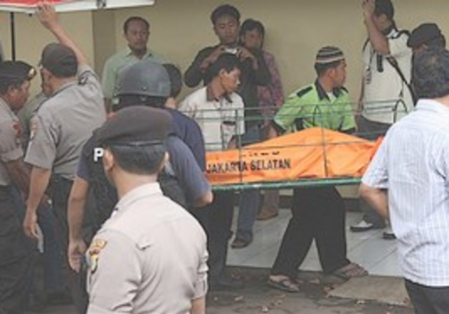 Indonesian police officers and hospital workers ca