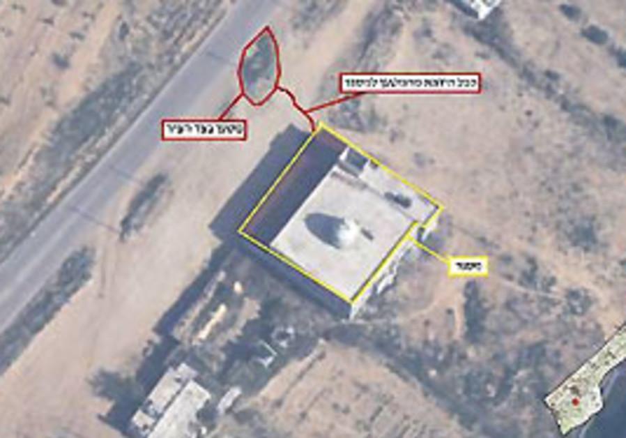 Rocket launchers near Gaza hospital