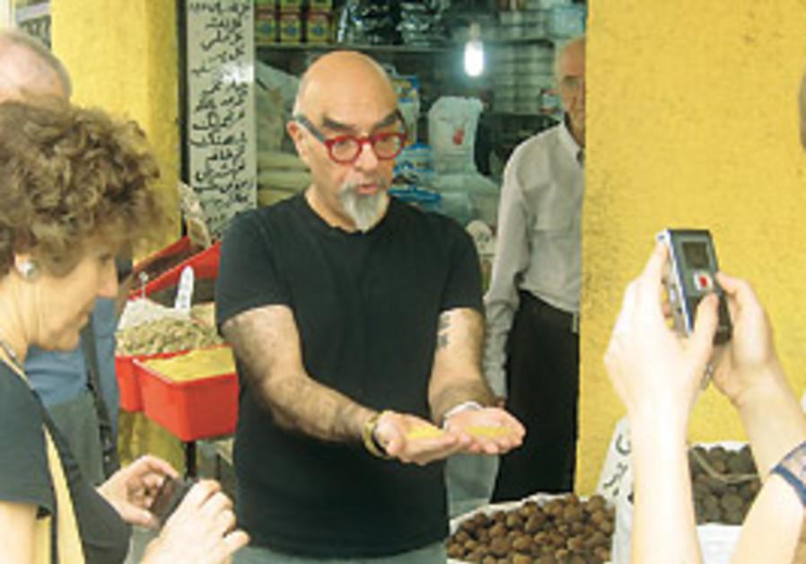 Celebrity chef Yisrael Aharoni leads a delegation