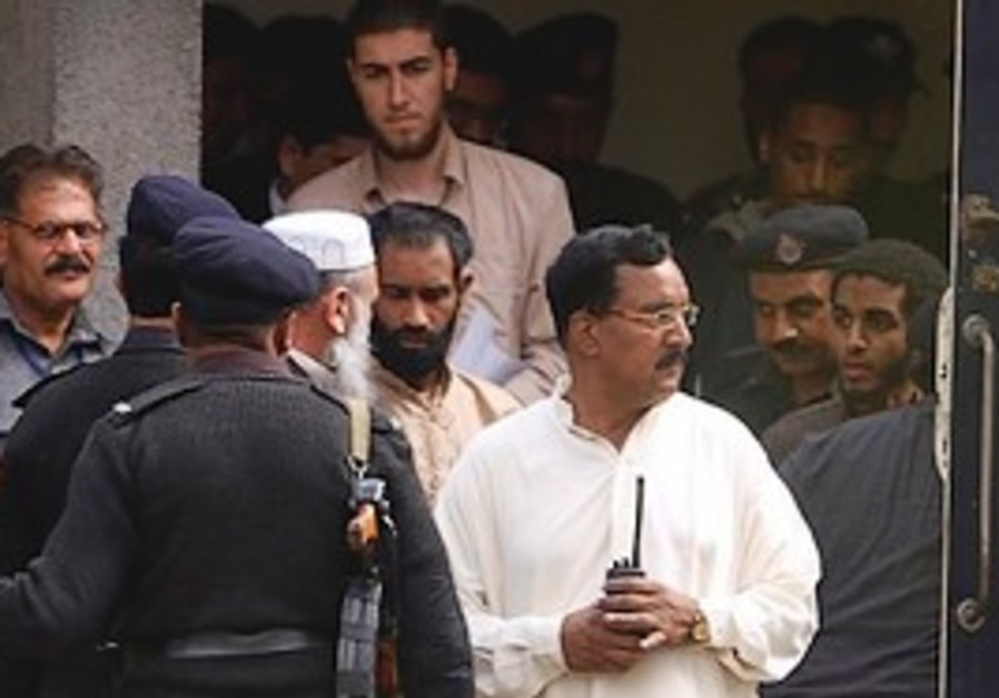 Detained American Muslims leave court.