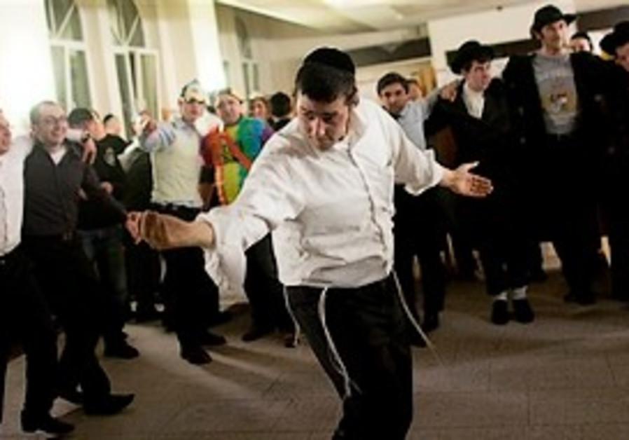 A Feb. 24, 2010 photo shows Orthodox Jewish men da