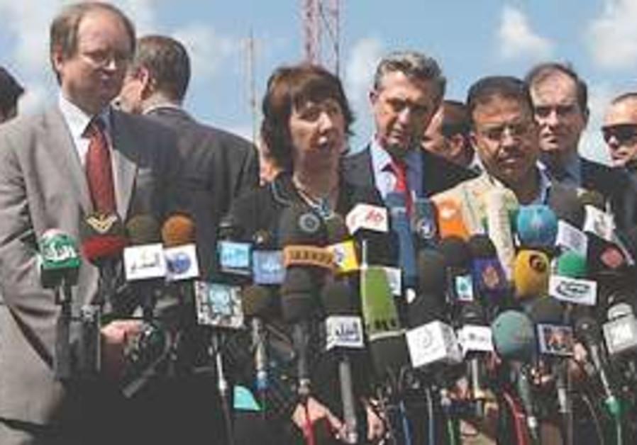 Ashton in Gaza. (AP)
