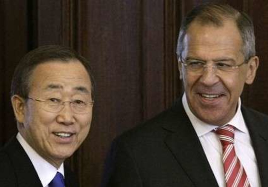 Lavrov, Ban Ki-moon, Quartet meeting in Moscow