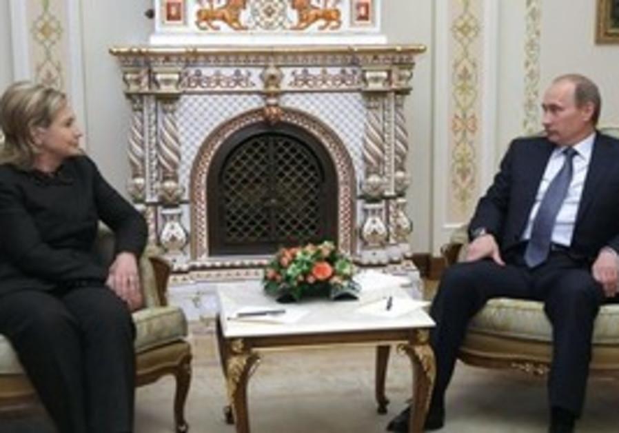 Putin and Clinton at Putin's dacha