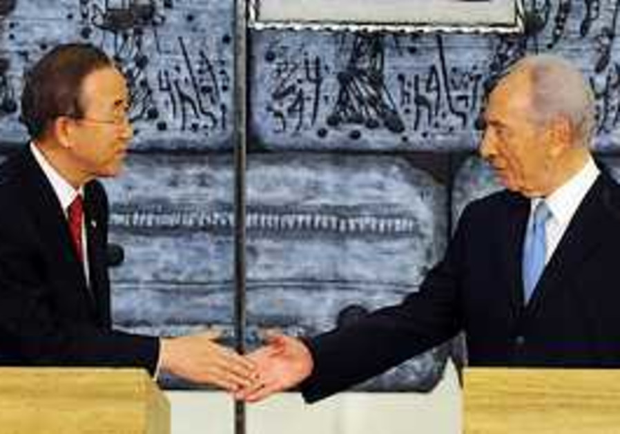 UN Secretary-General Ban Ki-moon meets with Presid