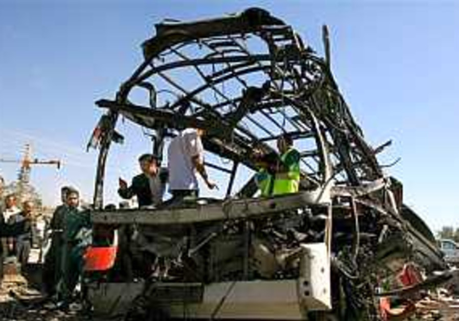 Taliban suicide bomber kills 35 on Afghan police bus
