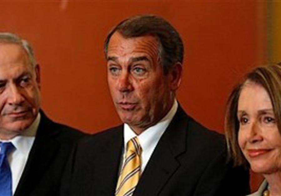 House Minority Leader John Boehner of Ohio, center