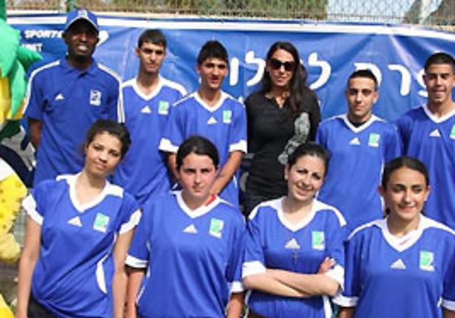 The mixed Israeli-Palestinian 'Peace Team'.