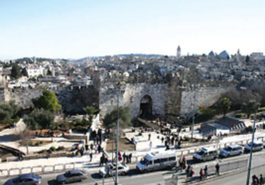 A view of the Old City's Damascus Gate.