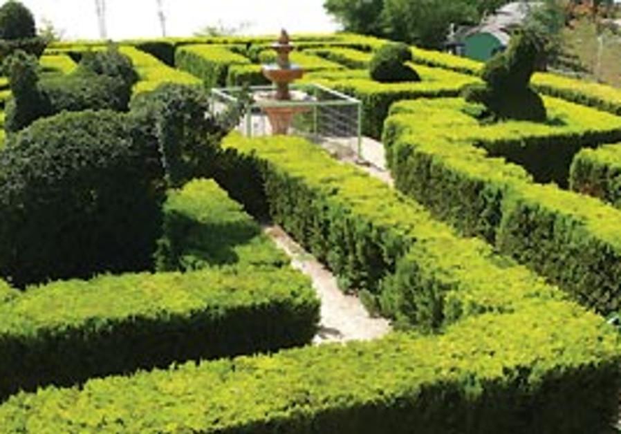 The maze at Park Utopia in Emek Hefer.