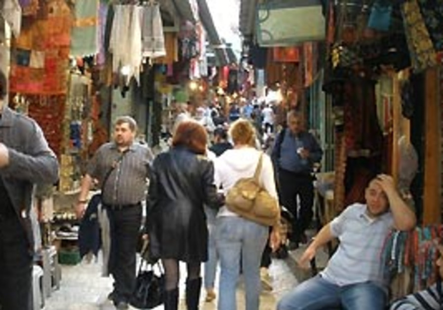 The Old City this week, bustling with visitors des