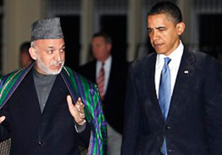 President Barack Obama meets with Afghan President