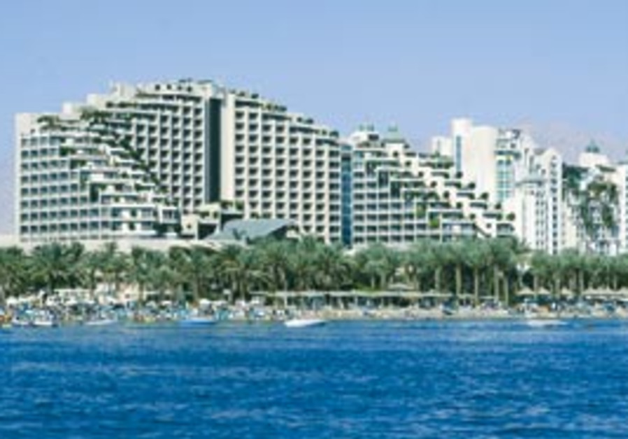 A view of Eilat's shoreline