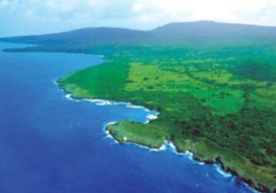 An aerial view of Jamaica's shoreline (Paul M Sofe