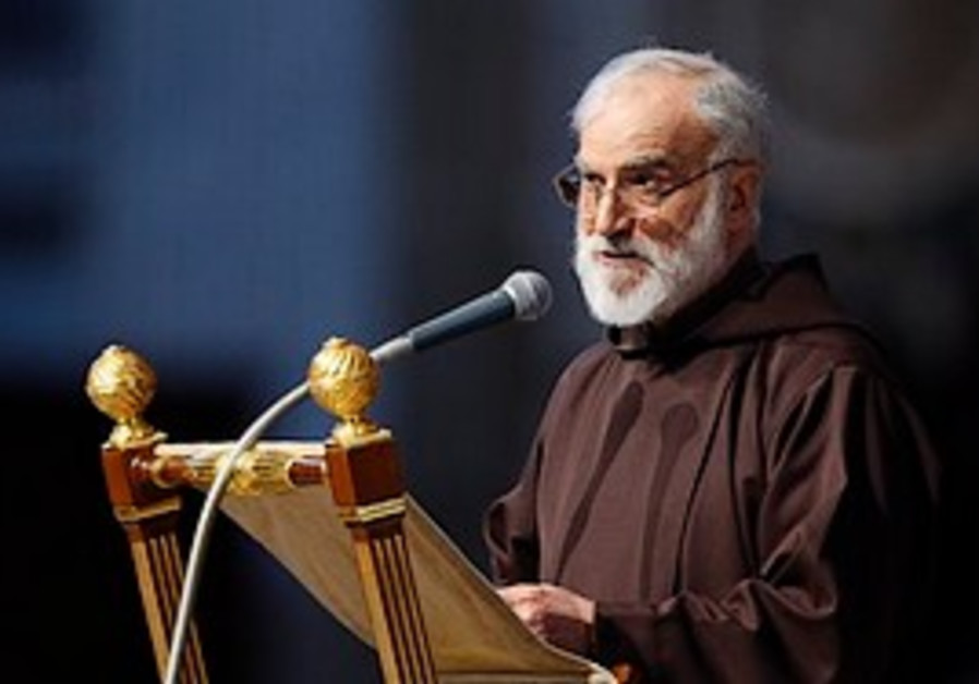 Rev. Raniero Cantalamessa delivers the Good Friday