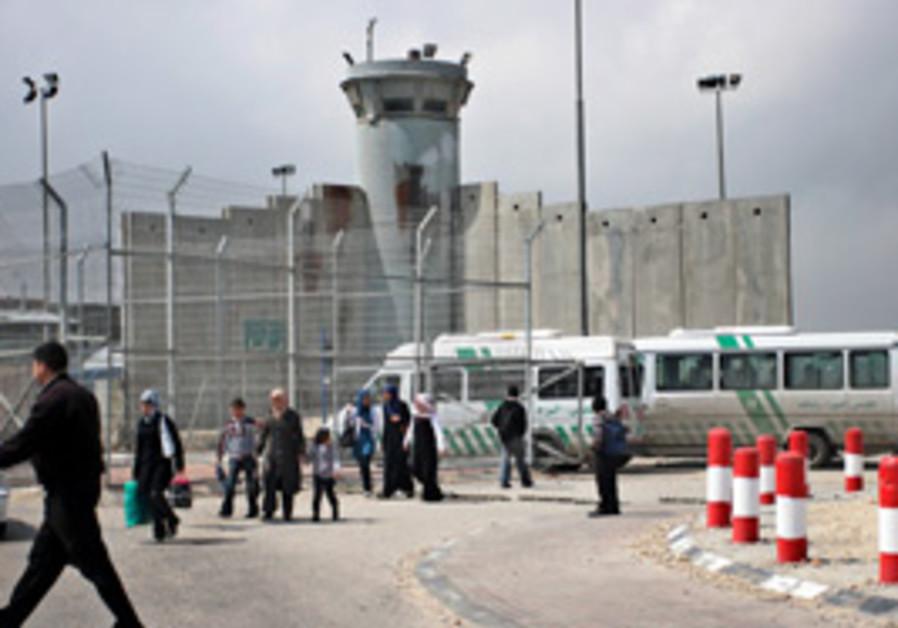 The Kalandiya checkpoint between Ramallah and Jeru