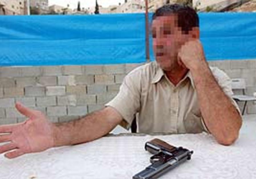 A Palestinian collaborator.