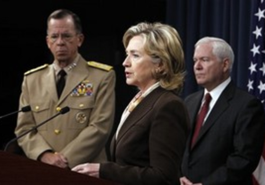 Secretary of State Hillary Rodham Clinton speaks t