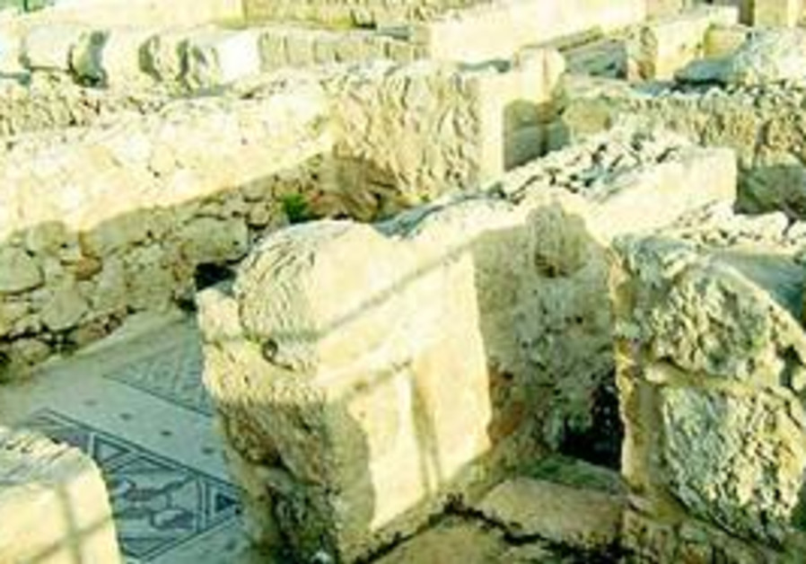 Interior walls at St. Martyrius Monastery