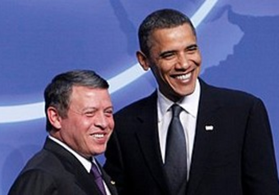 Obama meets with Jordan's King Abdullah II.