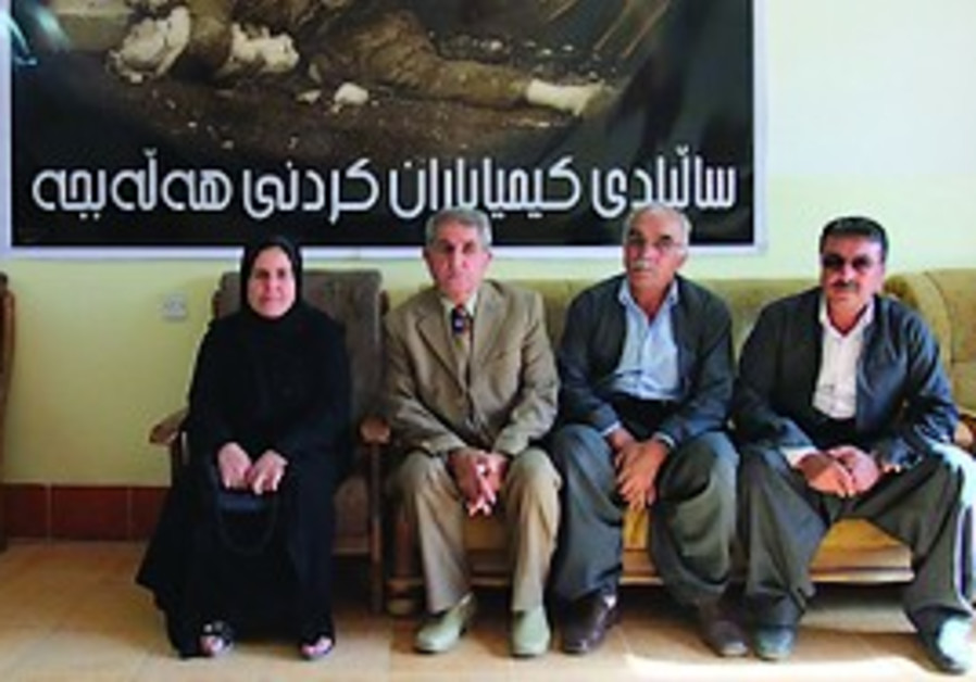 Massacre: Survivors of the Halabja gas attack pose