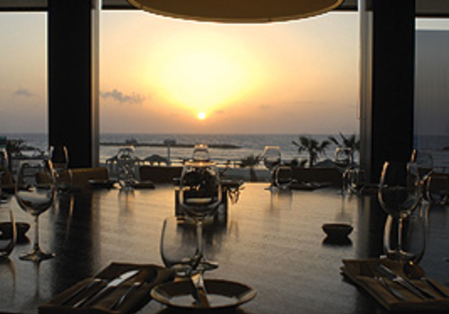 Enjoy fine dining while overlooking the Mediterran