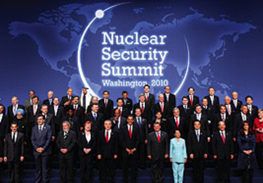 World leaders gather for a photo op during the Nuc