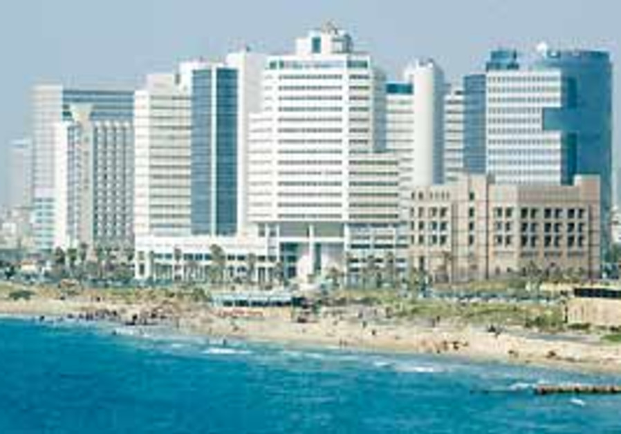 A view of Tel Aviv's coastline