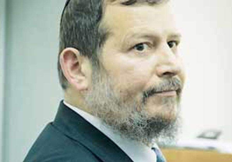 Former Jerusalem mayor Uri Lupolianski (AP).