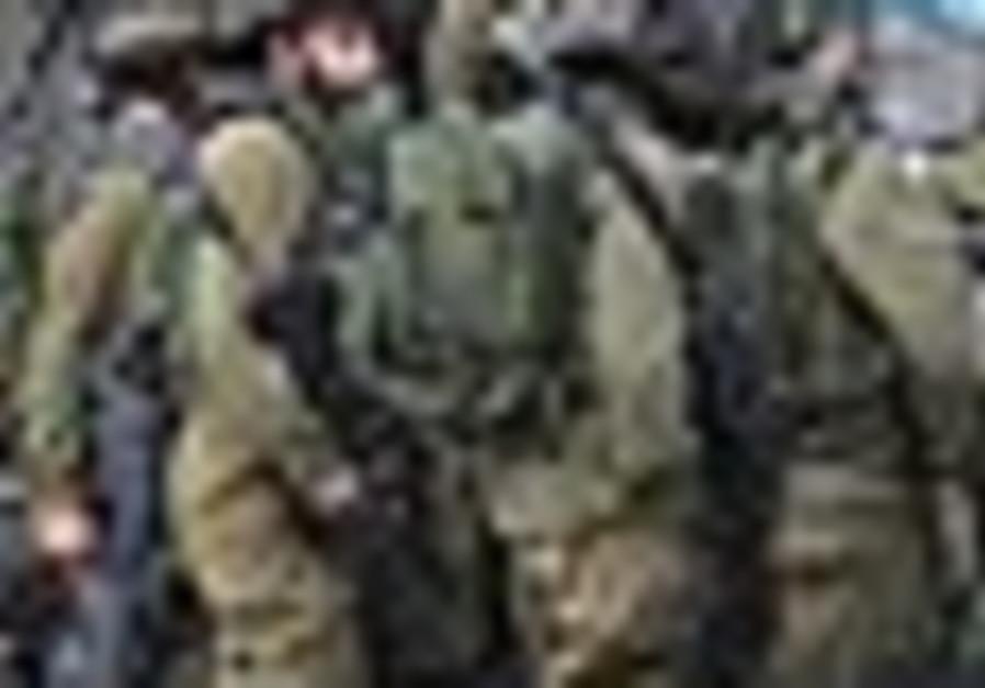 IDF soldiers at the Israel-Gaza border.