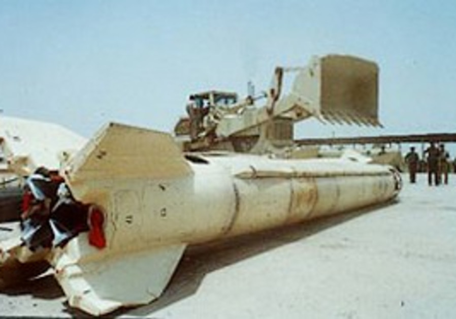 A Scud missile