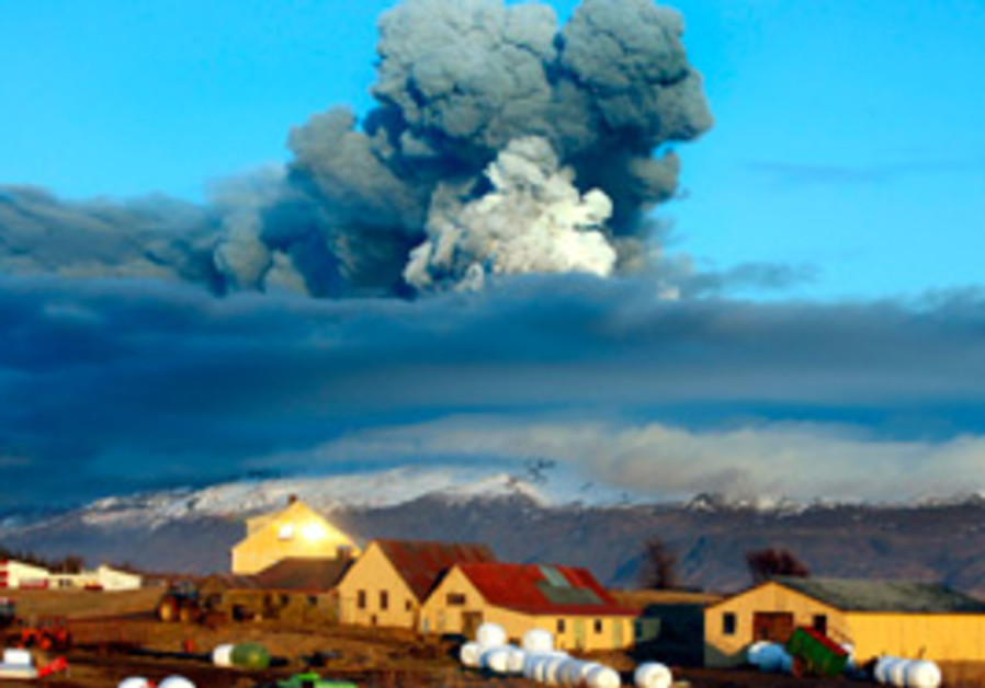 The volcano in southern Icelands Eyjafjallajokull