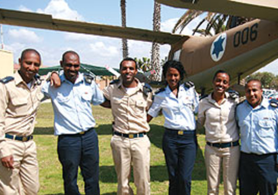 Ethiopian born professional IAF officers.