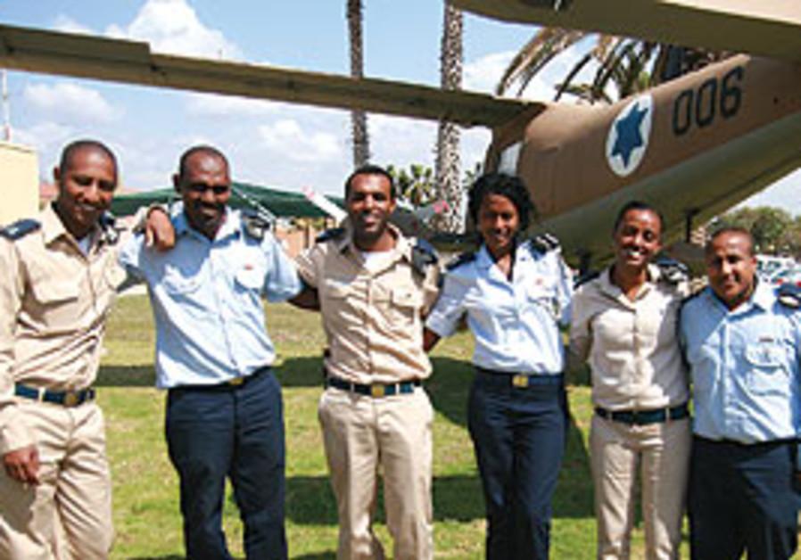 Ethiopian born professional IAF officers.