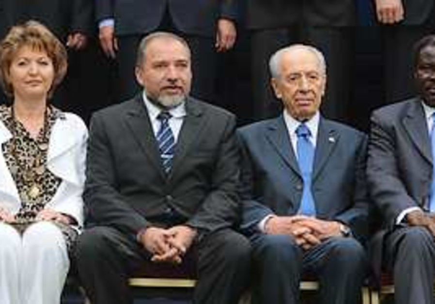 President Shimon Peres and Foreign Minister Avigdo