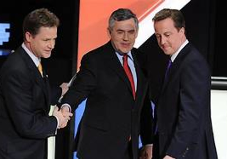 Clegg, Brown and Cameron