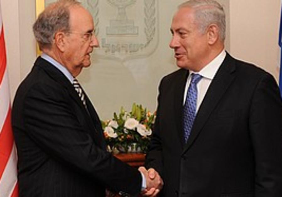 Netanyahu meets Mitchell in J'lem.