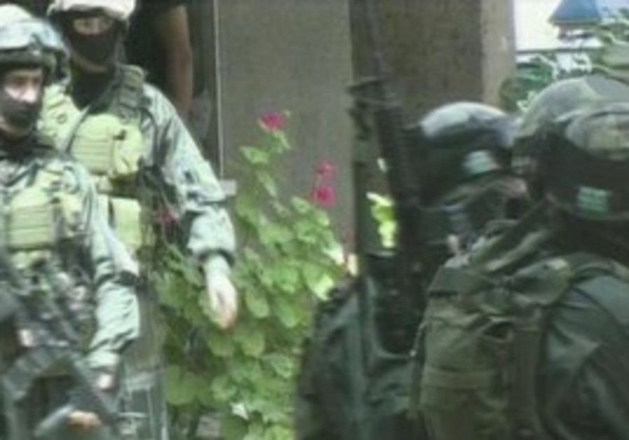 SWAT team entering Petah Tikva apartment were the