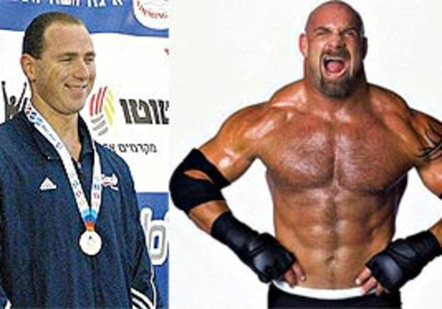 Jason Lezak (left) and Bill Goldberg (right).