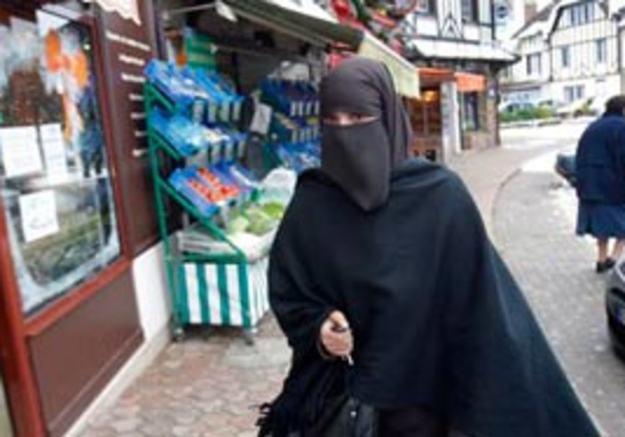Faiza Silmi, a 32-year-old Moroccan,wears a burka in France