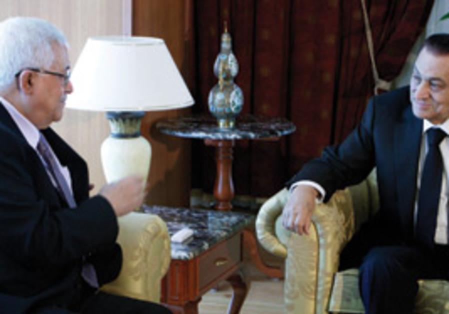 EGYPTIAN PRESIDENT Hosni Mubarak meets with PA Pre