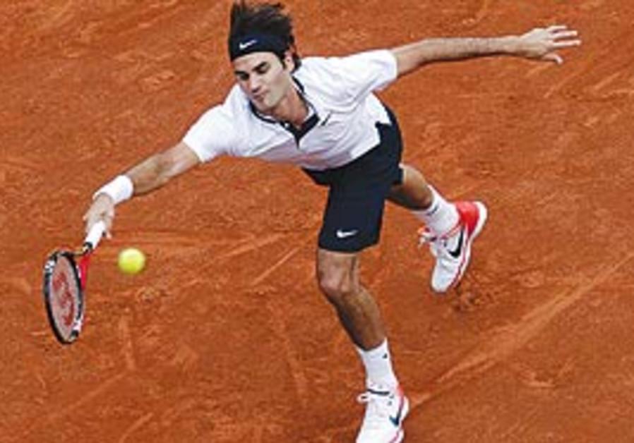 Roger Federer at Rome