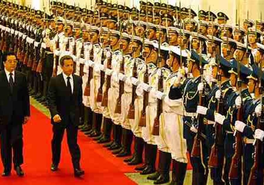 French President Nicolas Sarkozy visits China