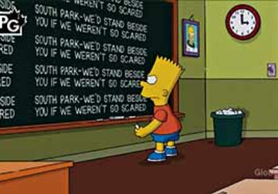 Bart Simpson stands up for free speech.
