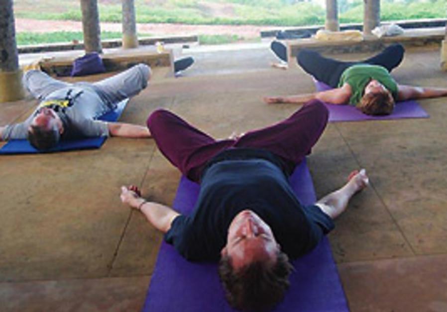 Yoga by the sea at the Barberyn Beach Resort.
