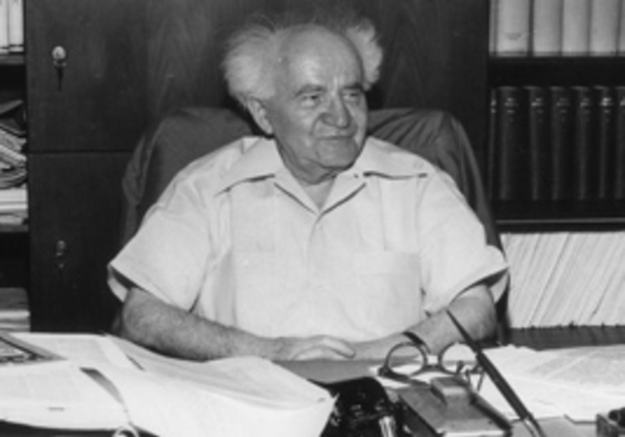 DAVID BEN-GURION in the late '60s. The plan, accor