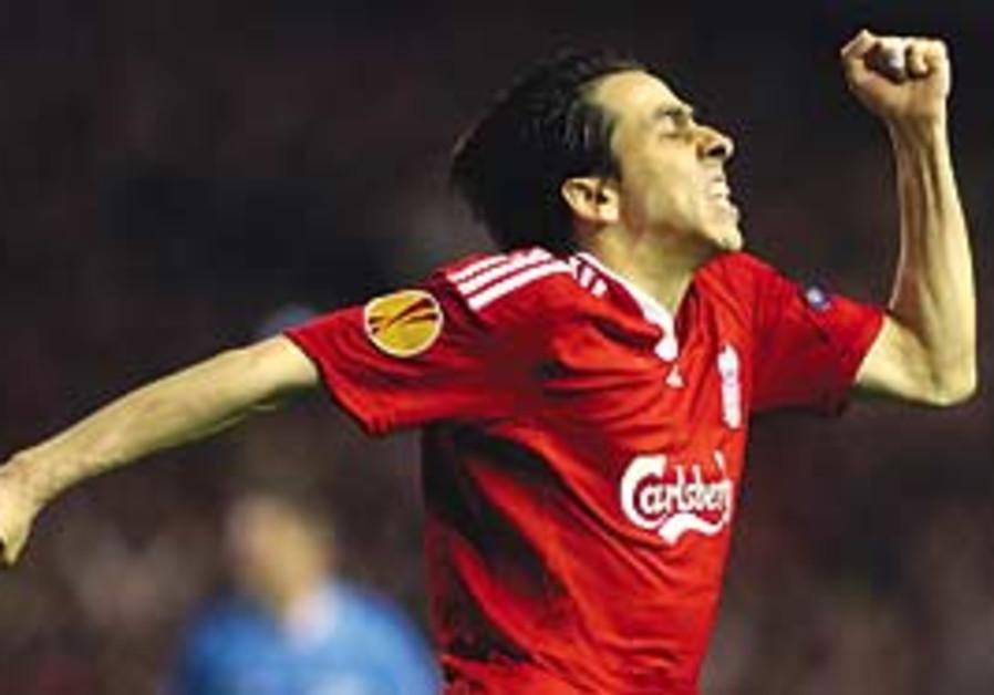 Benayoun celebrates.
