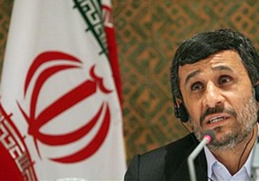 Iranian President Mahmoud Ahmadinejad speaks at a